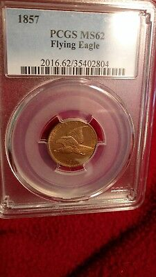 1857 1C Flying Eagle Cent MS-62 PCGS
