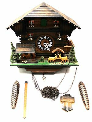 German DER FROHLICHE WANDERER Musical Moving CUCKOO CLOCK Untested - H29