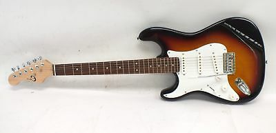 ELECA Left Handed S Style Full Size 6 String Electric Guitar Sunburst   - C72