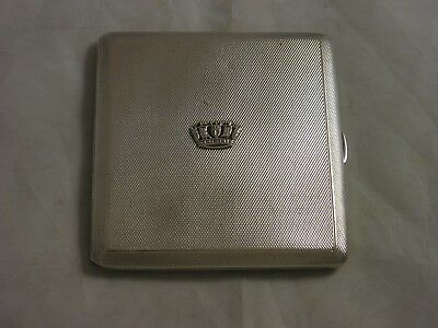 Fine Small Gieves Old Bond St Silver Cigarette Case 121 grams Engine Turned