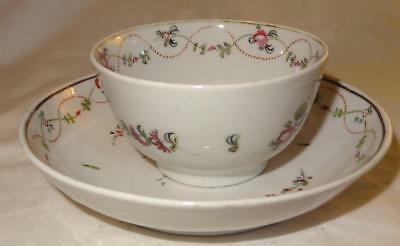 Late 18th Century New Hall / Newhall English Porcelain Teabowl & Saucer