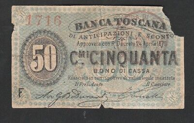50 cents From Italy 1870