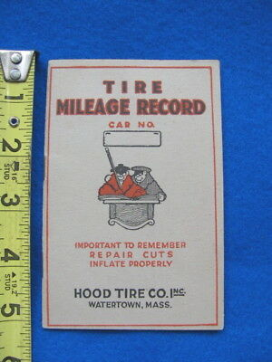 Vintage HOOD TIRE- TIRE MILEAGE RECORD BOOKLET