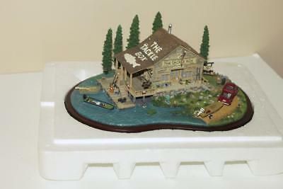 Danbury Mint The Tackle Box Building Boating Fishing Mint in Box