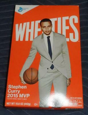 Nba Stephen Curry 2015 Mvp Wheaties Cereal Box Golden State Warriors Sealed New