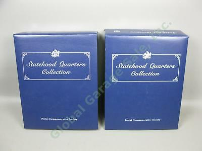 Complete Postal Commemorative Society Statehood Quarters Collection Vol 1 2 Set