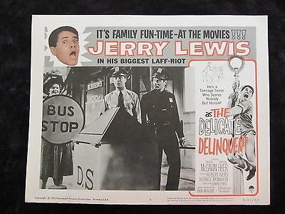 The Delicate Delinquent lobby card # 4  - Jerry Lewis - R62 lobby card