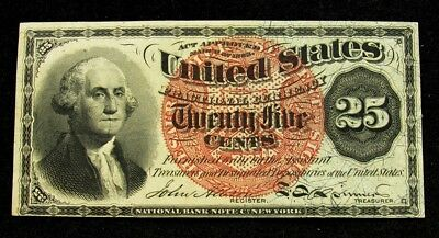 US 4th Issue (1869-75) 25 Cent Fractional Currency -Crisp XF+/AU- FR# 1307