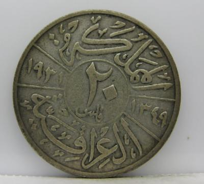 Iraq 1931 Silver 20-Fils! Fine! Km# 99! Really Nice Old Type Coin! Look!