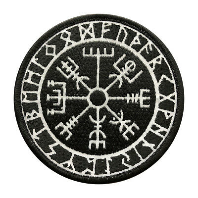 Reflective Viking Compass Vegvisir 3.5 Inch Acu Tactical Morale Hook Patch