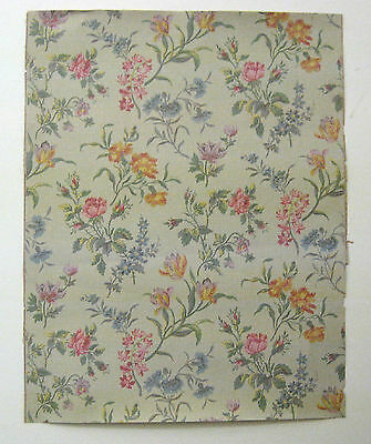 Antique Lovely Late 19th C. French Floral Wallpaper (9408)