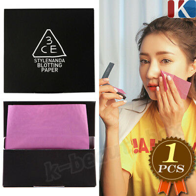 3CE Oil Control Blotting Papers 60 sheets  Facial Face Clean Paper Made in korea