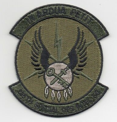 "USAF Patch 285th SPECIAL OPS INTEL SQ, in OPC Colors, 4"", hook side backing"
