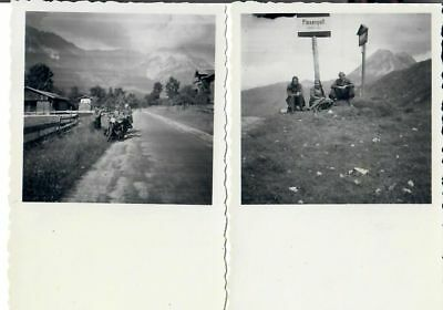 2 alte Fotos Flexenpass 1951