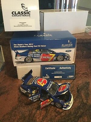 Damaged 2012 Stone Brothers Racing  Falcon Tim Slade 1:18 Classic Carlectables