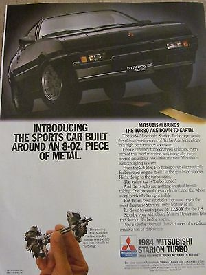 Mitsubishi, Starion Turbo, 1984, Full Page Vintage Print Ad