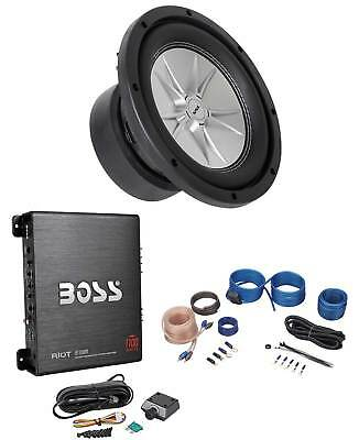 "Sound Storm SLR8DVC 1000 Watt 8"" 4-Ohm DVC Car Subwoofer+Mono Amplifier+Amp Kit"
