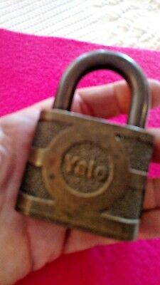 Antique brass Yale lock no key