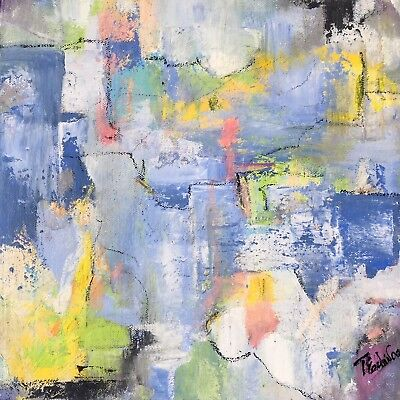 Abstract art, fine art, mixed media art, home decor -Working on a Mystery