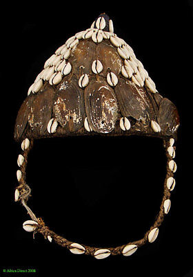 Lega Bwami Hat Cowrie Mussel Shells Congo African Art SALE WAS $190.00