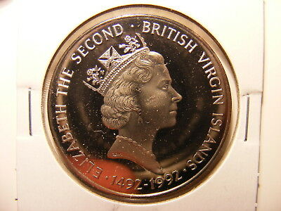 British Virgin Islands 1992 (ND) C/N Proof 1 Dollar Coin, KM#169, One Year Type