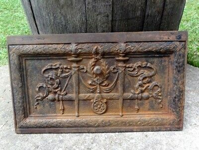 Antique - Ornate Cast Iron Fireplace Summer Cover -