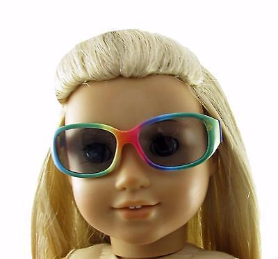 Doll Clothes Sunglasses Rainbow Plastic Fit 18 inch  American Girl