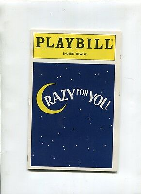Vintage Broadway Playbill 1993 CRAZY FOR YOU Harry Groener Jodi Benson