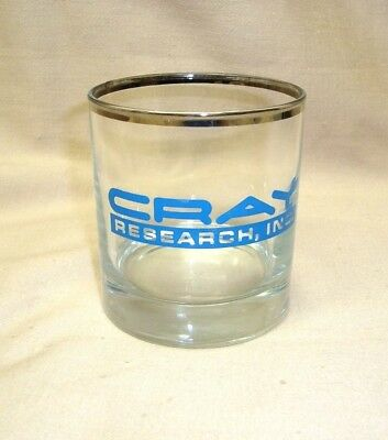 RARE Vintage Cray Research Cocktail Glass Chippewa Falls WI