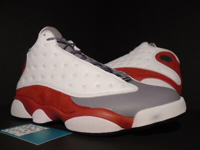 70b97378be39 Nike Air Jordan XIII 13 Retro WHITE BLACK CEMENT GREY TOE RED BRED  414571-126