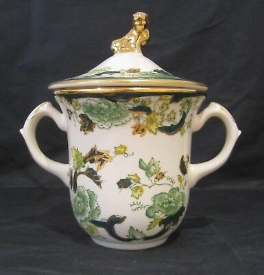 Rare Masons Ironstone Hot Chocolate Cup 'Chartreuse' Pattern Excellent Condition