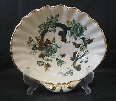 Masons Ironstone Shell Dish 'Chartreuse' Pattern, Excellent Condition