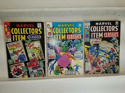 Lot of 3 Marvel Collectors' Item Classics #8 #18 #20 Reprint early FF Iron Man