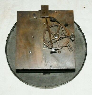 Antique RSM (R. Schnekenburger) Clock  Movement & Face, Spares/Repair