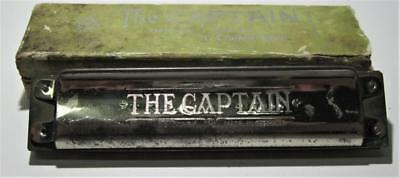 """Vintage The Captain Richter Harmonica 5 1/4"""" By C.A.Seydel Sohne W/ Box Key Of C"""