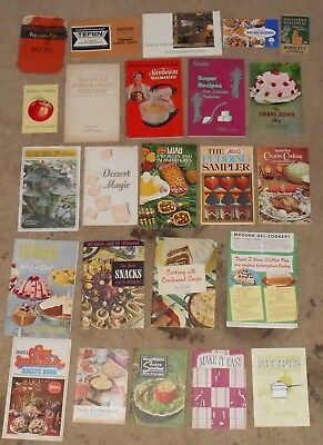 Lot of vintage cooking recipe booklets pamphlets catalogues 1950s - 1980s