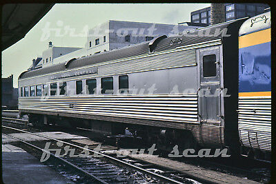 Original Slide - New York Central NYC 38 Passenger Car Club Car Albany NY 1968