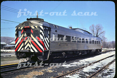 Original Slide - New York Central NYC 59 Budd RDC Car Dover Plains NY 1976