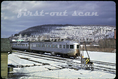 Original Slide - New York Central NYC 66 Observation Action Whitehall NY 1964