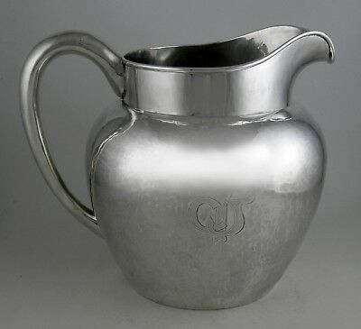 Sterling hand hammered Lebolt (Chicago) water pitcher (Ca. 1930)