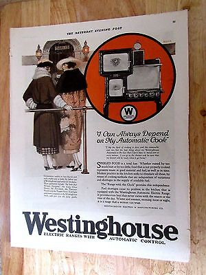 1922 Westinghouse Electric Range Print Ad 10 x 14 in