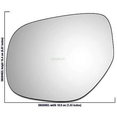 Right Hand Driver Side Mirror Glass for Vauxhall Zafira A 1999-2005 0023RS