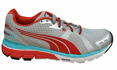 787500ec2668 Puma Faas 600 Womens Trainers Running Shoes Lace Up Silver Textile 186685  01 D28