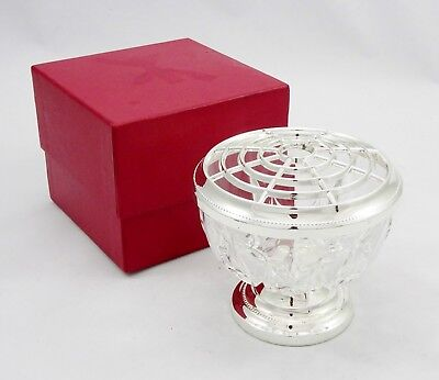 Vintage Royal Mayfair English Silver Plated Glass Rose Bowl Table Decoration