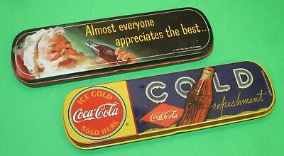 Vintage Coca-Cola Advertising Ink Pens And Tin Set~1995-96 (Lot Of 2)
