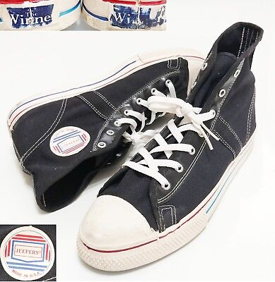 Jeepers The Winner Nylon Canvas Sneakers Vintage Vtg 60s 70s USA Made Shell