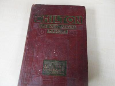 Chilton Company Flat Rate and Service Manual 1935-1940 Hard Cover