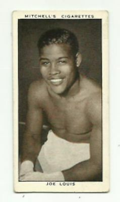 1936 Mitchell Card: A Gallery of 1935 No.28 JOE LOUIS, exc condition, Rare!
