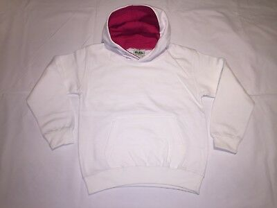 CLEARANCE New Kids AWDiS Varsity hoodie. White/pink x 39. R8.