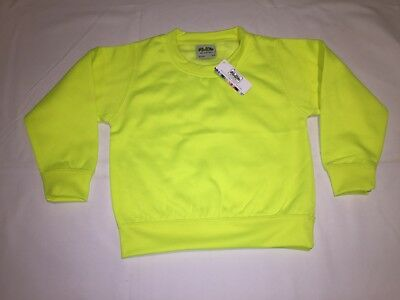 CLEARANCE New Kids AWDiS Electric sweat. Electric Yellow x 36. R9.
